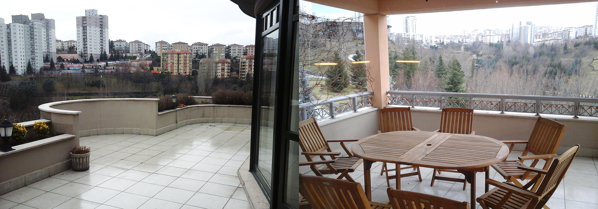 FURNISHED 4+1+TERRACE APARTMENT WITH PANORAMIC VALLEY VIEW IN ÇANKAYA