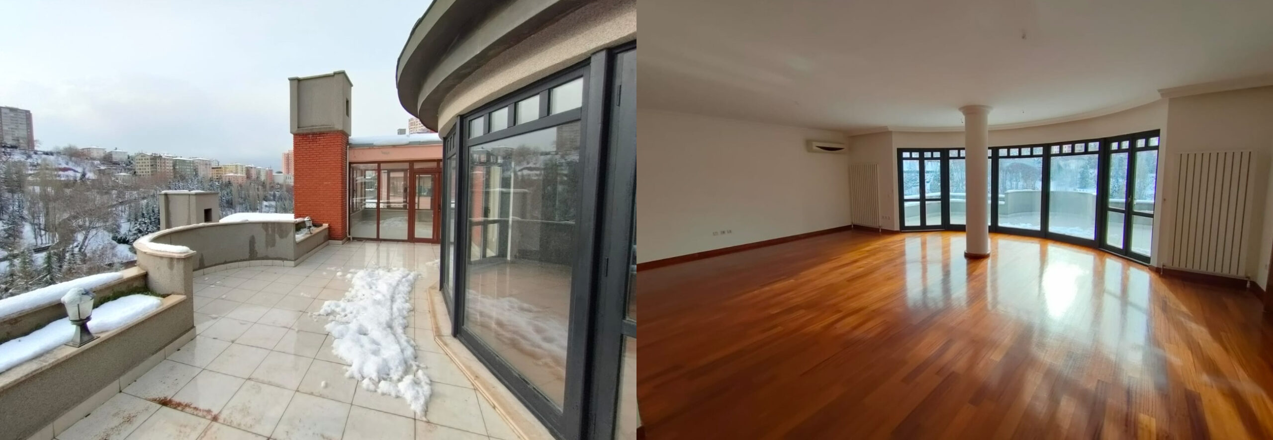 4+1 Unfurnished Flat with Terrace, Çankaya Valley