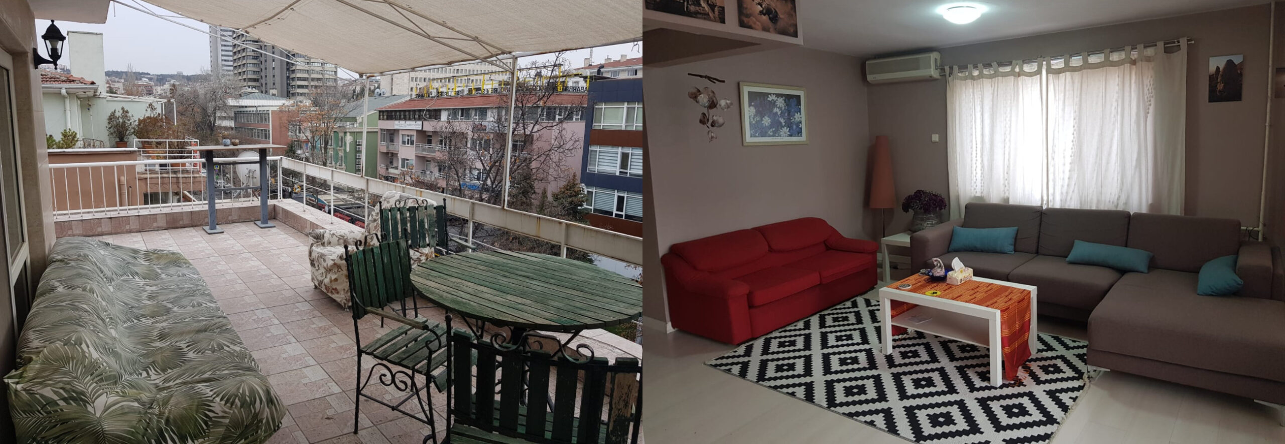 2+1 FURNISHED FLAT WITH HUGE TERRACE IN KAVAKLIDERE