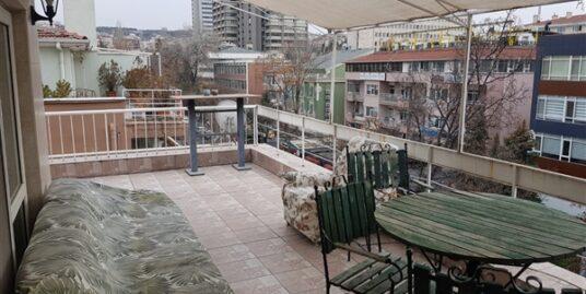Furnished 2+1+Open Room+Terrace at Tunus Street Kavaklıdere